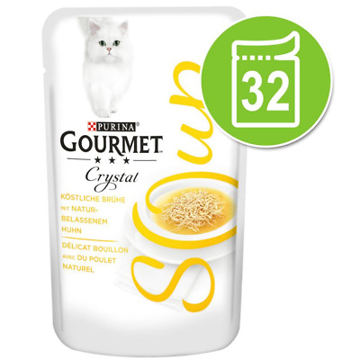 Gourmet Soup Megapack Chicken Variety Mixed Pack Cat Food 32 X 40g • 35.99£