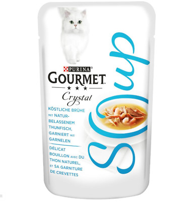 Gourmet Soup Megapack Tuna Variety Mixed Pack Cat Food 32 X 40g • 33.99£