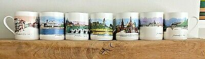 Seven Royal Academy Of London 'Cities On Water' Bone China Mugs (all Different)  • 42£