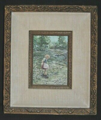 $ CDN662.87 • Buy Original PHIL PRENTICE  Painting Of Child In Meadow Beautifully Framed      4-A
