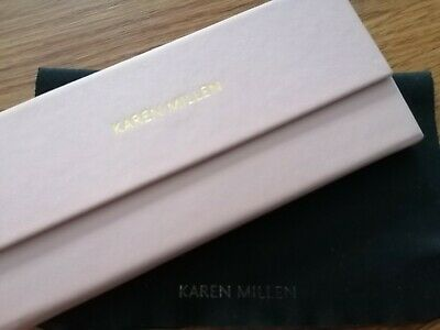 Karen Millen Pink Flat Pack Glasses Case With Cleaning Cloth Case Used Once  • 5£