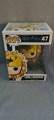 Luna Lovegood Lion Head Funko Pop #47 Harry Potter Vaulted Figure FREE P&P • 20£