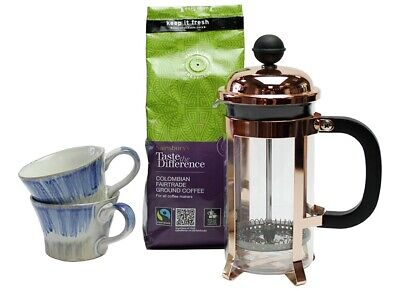 Coffee Gift Set With Cafetiere And Cups  • 20£