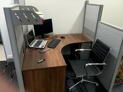 AU40 • Buy Timber Corner Desk With Leather Chair And Drawers
