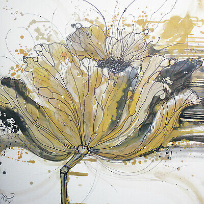 Gold Poppy Original Signed Limited Edition Floral Art Print Home Decor Flowers • 19.99£
