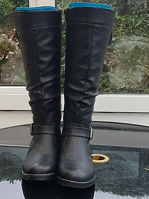 New Ladies PAVERS Knee Length Flat Buckle Boots Size 5 • 45£