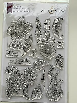 Altenew Clear Photopolymer Stamps, 'Engraved Flowers' SKU ALT2810 • 3.50£