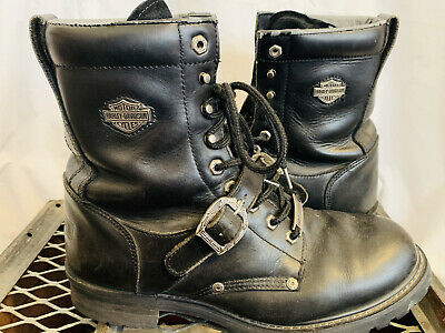 $ CDN63.15 • Buy Men's HARLEY DAVIDSON Faded Glory 91003 Black Leather Motorcycle BOOTS Size 12