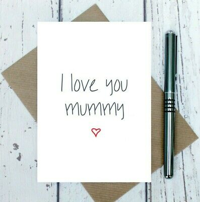 I Love You Mummy Card - Mother's Day Card - Get Well Card - Birthday Card - Love • 2.95£