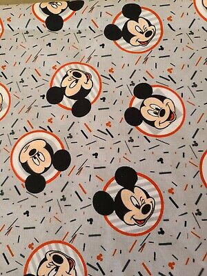 Mickey Mouse Confetti Party Disney Cotton Fabric Remnant 1yd X 44 • 4.34£