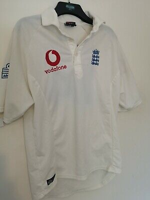 ENGLAND CRICKET TEST SHIRT JERSEY ADMIRAL SIZE L Robinson 14 Named • 14.99£