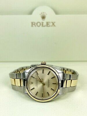 $ CDN4978.95 • Buy Rolex Oyster Perpetual Vintage 34mm 2-Tone Yellow Gold/Stainless Steel Ref 1005