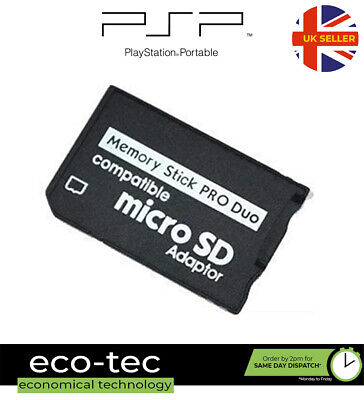 £2.95 • Buy Micro SD TF Memory Card To Sony Pro Duo Adapter Converter For PSP 1003 2003 3003