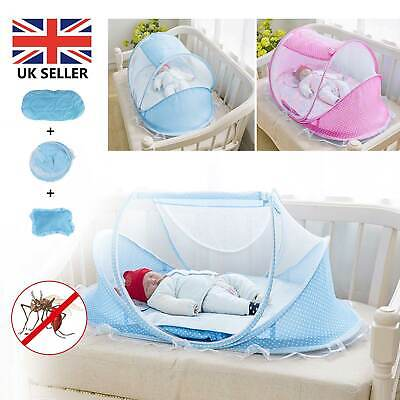 £12.59 • Buy Foldable Baby Mosquito Net Canopy Bed Summer Camping Travel Cot Tent Crib Pillow