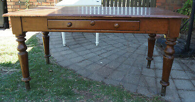 AU220 • Buy Antique Solid Wooden Table  Possibily Pine And From Mid 1800's  Squarish Nails