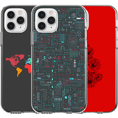 £9.22 • Buy Silicone Cover Case Motherboard 2D Map Flowers Red World Map Continents Art