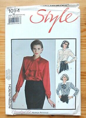 Vintage Sewing Pattern, Style 1094, Ladies' Blouse, Shirt, Size 12 • 3£