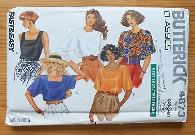 Vintage Sewing Pattern, Butterick 4873, Ladies' Blouse, Shirt, Top, Size 10 • 3£