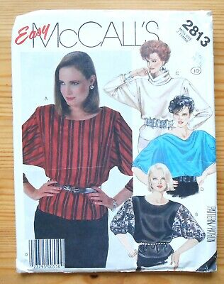 Vintage Sewing Pattern, McCalls 2813, Ladies' Blouse, Shirt, Top, Size 10 • 3£