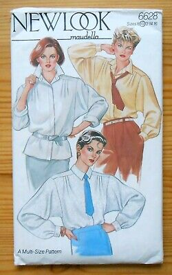 Vintage Sewing Pattern, New Look 6628, Ladies' Blouse, Shirt, Size 10 • 3£