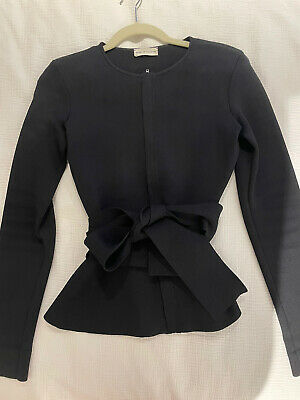 AU196.50 • Buy SCANLAN & THEODORE Black Crepe Knit Jacket Sz S