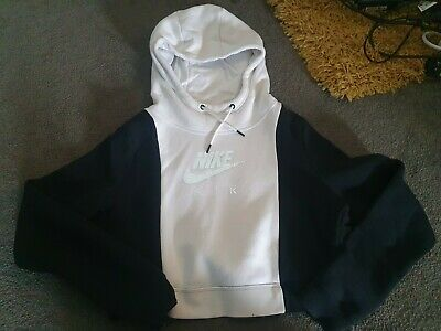 Nike Air Black And White Cropped Hoody Track Top.  Size M • 8£