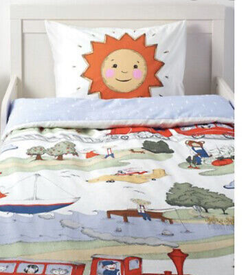 Vintage Style Ikea Utelek Colourful Childs Single Quilt Cover & Pillowcase New • 20£