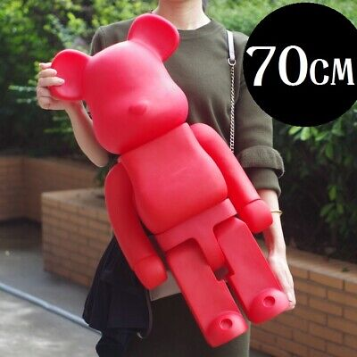 $139.99 • Buy 70CM 1000% Bearbrick Red Paint Be@rbrick Fashion Toy Vinyl Action Figure Recast
