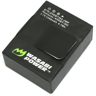 AU21.99 • Buy Replacement Battery For GoPro Hero3+, Hero 3 Go Pro Wasabi Power (1280mAh)