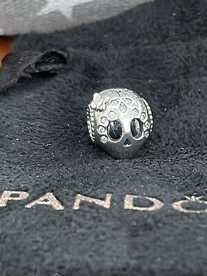 Genuine Pandora Silver Sparkling Skull Charm Cubic Zirconia Coco Day Of The Dead • 32£