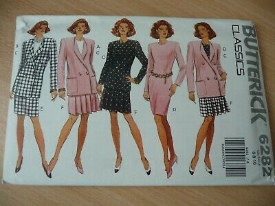 Butterick Dressmaking Pattern 'Classics' 6282 Ladies Dress, Jacket, Top & Skirt • 3.50£