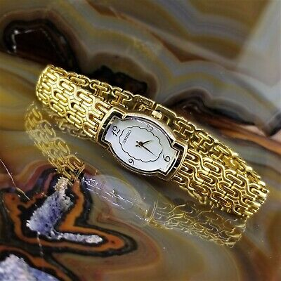 $ CDN114.12 • Buy Vintage Womens SEIKO Gold TN Barrel Crystal Byzantine Bracelet Watch 4N00-7070