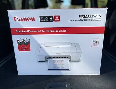 View Details Canon PIXMA MG2522 Wired All-in-One Color Inkjet Printer Scanner Copier WITH INK • 79.99$