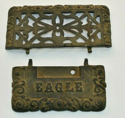 $27.50 • Buy Architectural Salvage Cast Iron Parts Eagle Victorian Mailbox Door Accents