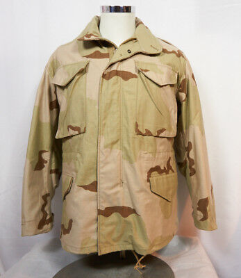 $44.99 • Buy Vintage 80s M-65 Desert Camo Men's Small Military Army Field Jacket Coat Liner