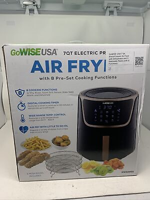 $ CDN107.05 • Buy GoWise USA 7 Qt Black/Copper Air Fryer With Dehydrator And 3 Stackable Racks