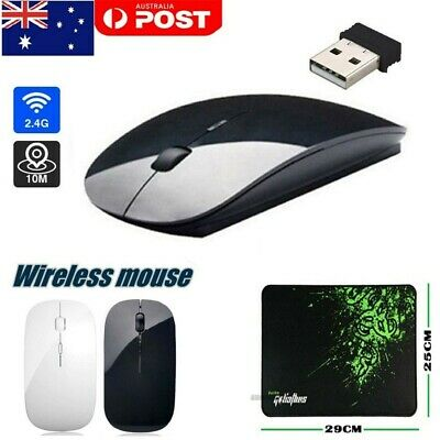 AU6.19 • Buy Wireless Optical Mouse Mice+USB Receiver Mouse Pad For PC Computer 2.4GHz