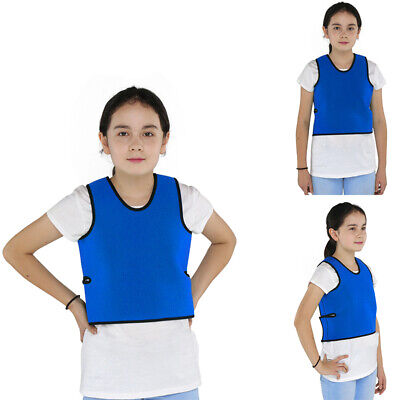 Blue Weighted Deep Pressure Compression Vest For Kids & Adults - Sensory Tool • 20.02£