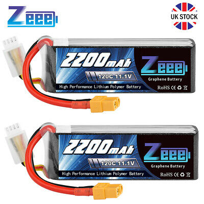 £43.99 • Buy 2X Zeee 3S Lipo Battery 11.1V 120C 2200mAh XT60 For RC Racing Helicopter Drone
