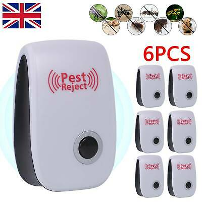 £9.49 • Buy 6x Ultrasonic UK Plug In Pest Repeller Night Light Mouse Mice Rat Spider Insects