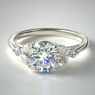 AU2593.92 • Buy 0.80 Ct Round Cut 950 Platinum Diamond Ring Solitaire Wedding Rings Size 4 5 6 7