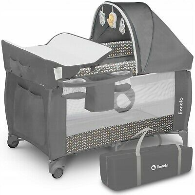 AU171.30 • Buy BABY BED TODDLER KIDS TRAVEL COT CHANGING ACCESSORIES SVEN LIONELO Grey Scandi