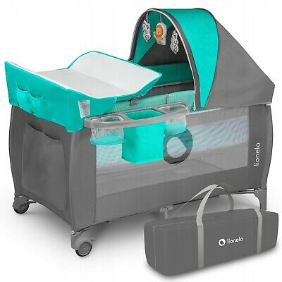 AU171.30 • Buy BABY BED TODDLER KIDS TRAVEL COT CHANGING ACCESSORIES SVEN LIONELO Turquoise