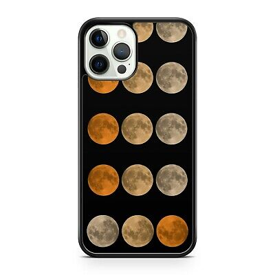 AU10.80 • Buy White Fine Orange Mixed Coloured Full Moon Phases Galaxy Space Phone Case Cover