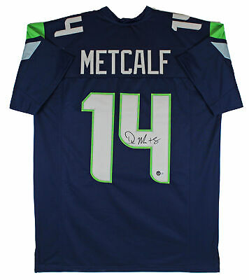 $ CDN225.56 • Buy D.K. Metcalf Authentic Signed Navy Blue Pro Style Jersey Autographed BAS
