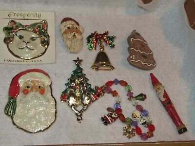 $ CDN18.92 • Buy Christmas Brooch Brooches Pins Vintage Jewelry Lot & More Santa Claus (540E)
