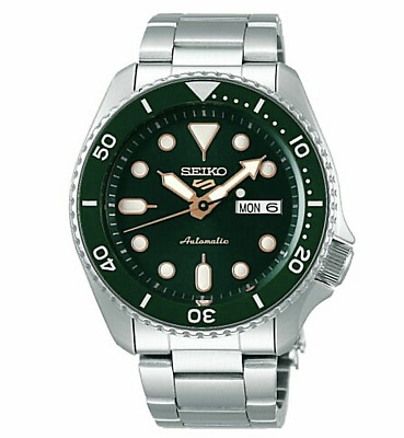 $ CDN241.87 • Buy Seiko 5 Five SRPD63 Automatic Dive Watch 100 Meter Water Resistant Green Dial