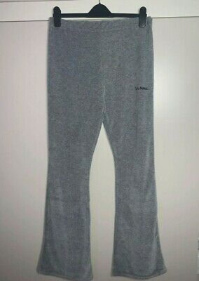 URBAN OUTFITTERS IETS FRANS BNWT Y2K Grey Velour Flared Trousers L • 14.99£