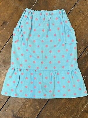 Handmade Girls Skirt 3-4 Years Polka Dot Turquoise Pink Vintage Style • 2.50£