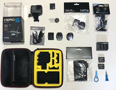 $ CDN202.56 • Buy GoPro Hero 5 Black Action Camera W/ Accessories - Case Batteries Charger MINT